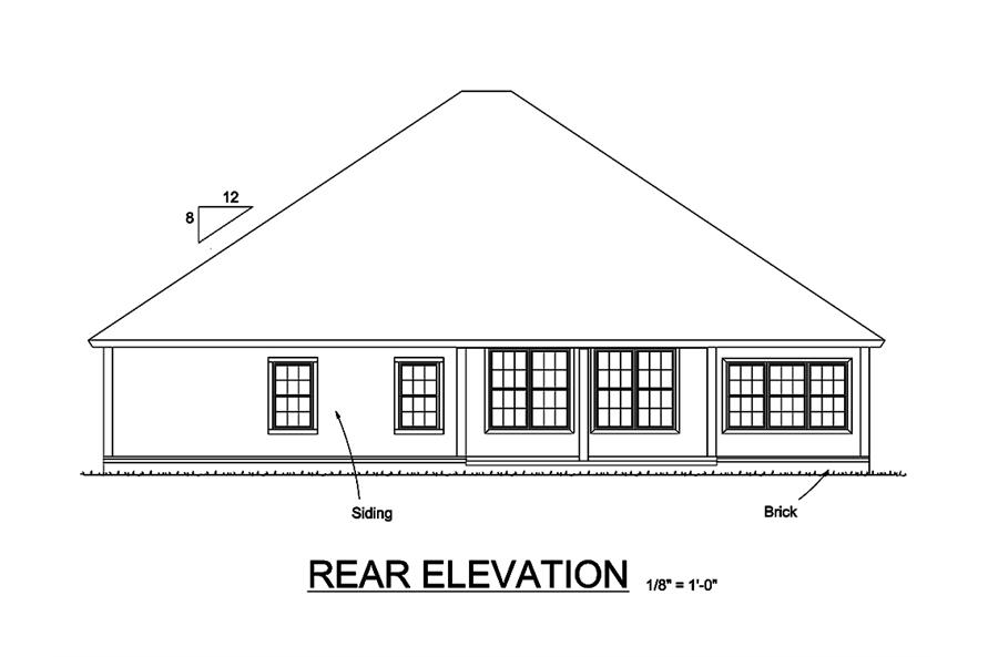 178-1325: Home Plan Rear Elevation