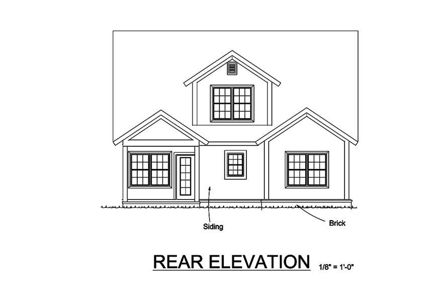 178-1326: Home Plan Rear Elevation