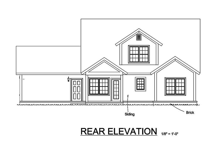 178-1327: Home Plan Rear Elevation