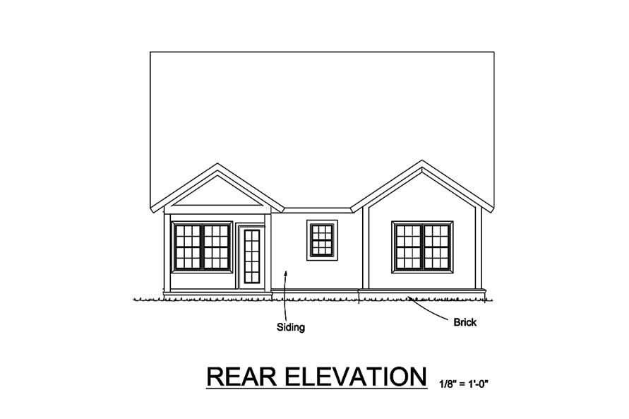 178-1328: Home Plan Rear Elevation