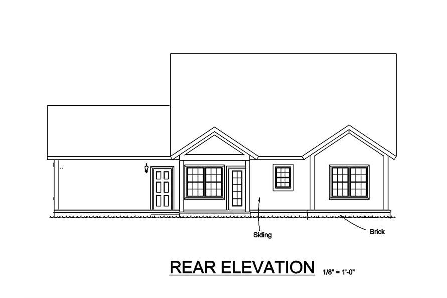 178-1329: Home Plan Rear Elevation