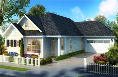 Front elevation of Cottage home (ThePlanCollection: House Plan #178-1330)