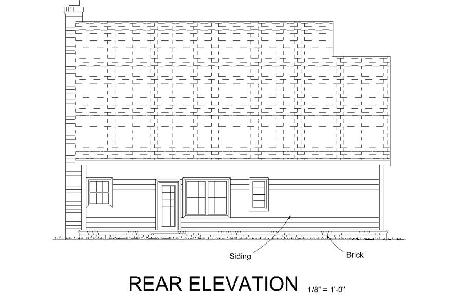 178-1332: Home Plan Rear Elevation