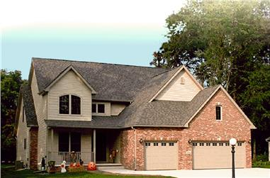 4-Bedroom, 2180 Sq Ft Country House Plan - 178-1334 - Front Exterior