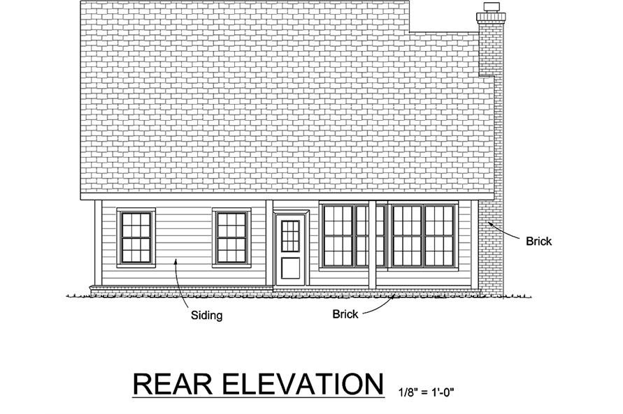 178-1335: Home Plan Rear Elevation