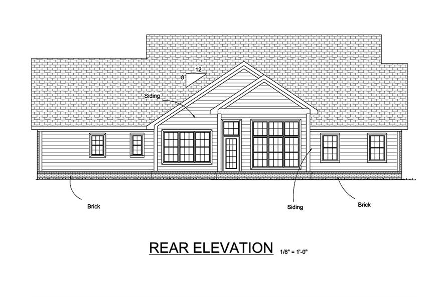 178-1336: Home Plan Rear Elevation