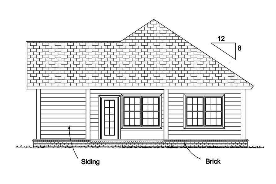 178-1338: Home Plan Rear Elevation