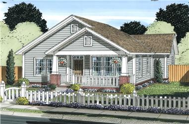 2-Bedroom, 1147 Sq Ft Cottage House Plan - 178-1338 - Front Exterior