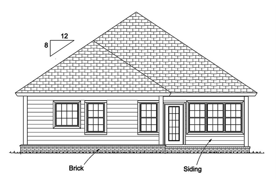 178-1339: Home Plan Rear Elevation