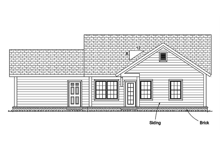178-1342: Home Plan Rear Elevation