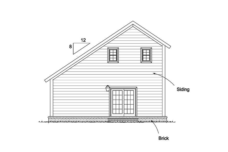 178-1343: Home Plan Rear Elevation