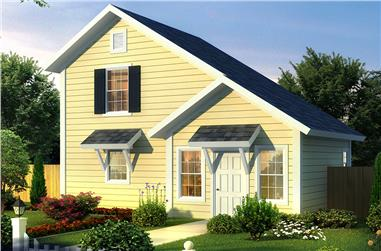Front elevation of Cottage home (ThePlanCollection: House Plan #178-1343)