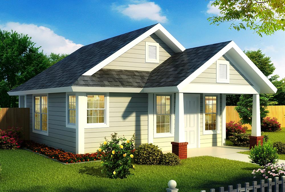 Cottage home plan (ThePlanCollection: House Plan #178-1344)