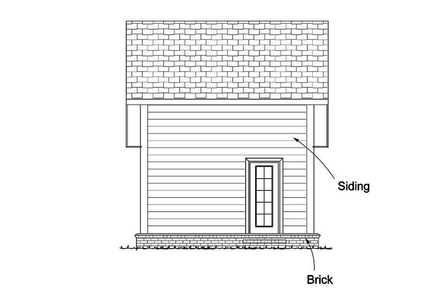 178-1346: Home Plan Rear Elevation