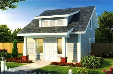 Front elevation of Cottage home (ThePlanCollection: House Plan #178-1346)