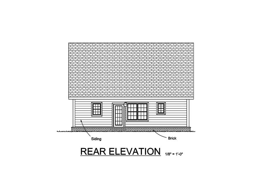 178-1354: Home Plan Rear Elevation
