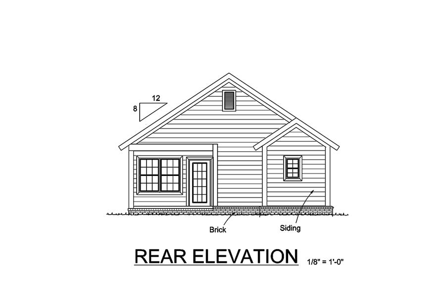 178-1355: Home Plan Rear Elevation