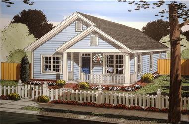 3-Bedroom, 1397 Sq Ft Craftsman House Plan - 178-1355 - Front Exterior