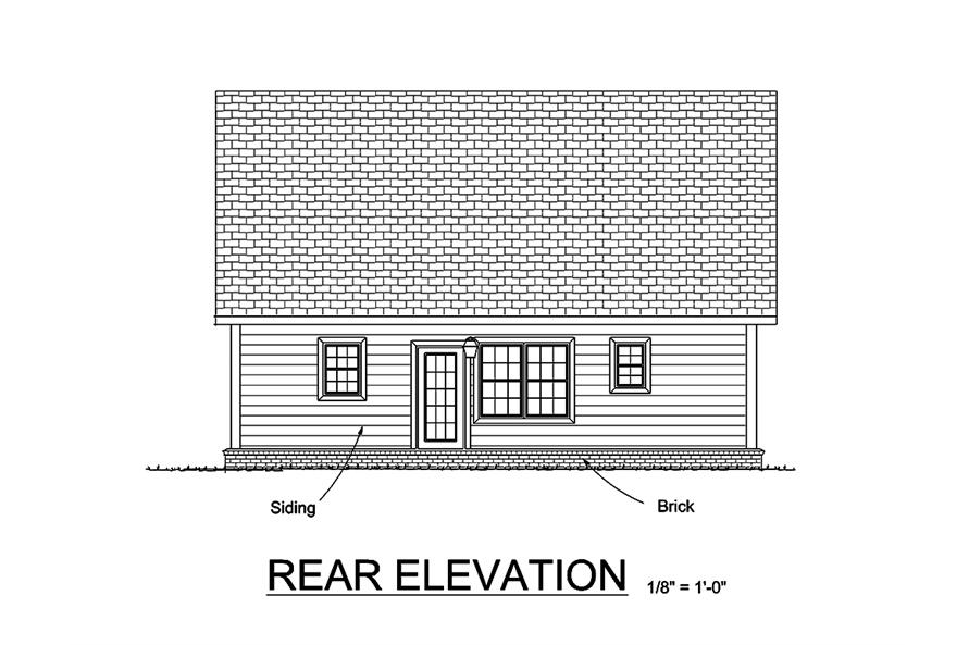 178-1356: Home Plan Rear Elevation