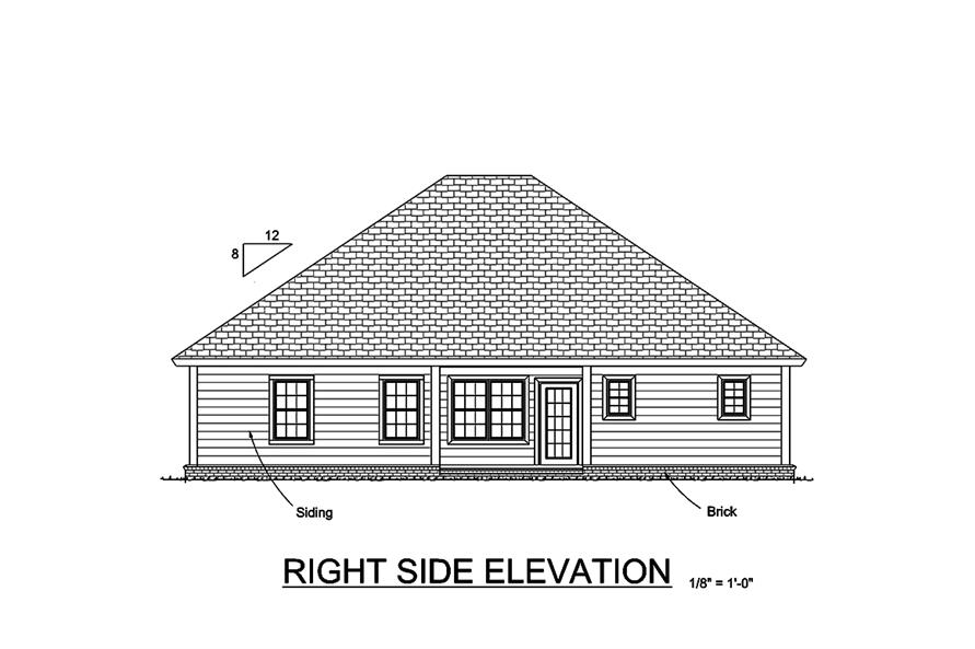 178-1357: Home Plan Rear Elevation