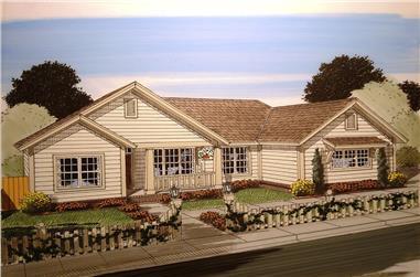 3-Bedroom, 1451 Sq Ft Craftsman House Plan - 178-1358 - Front Exterior