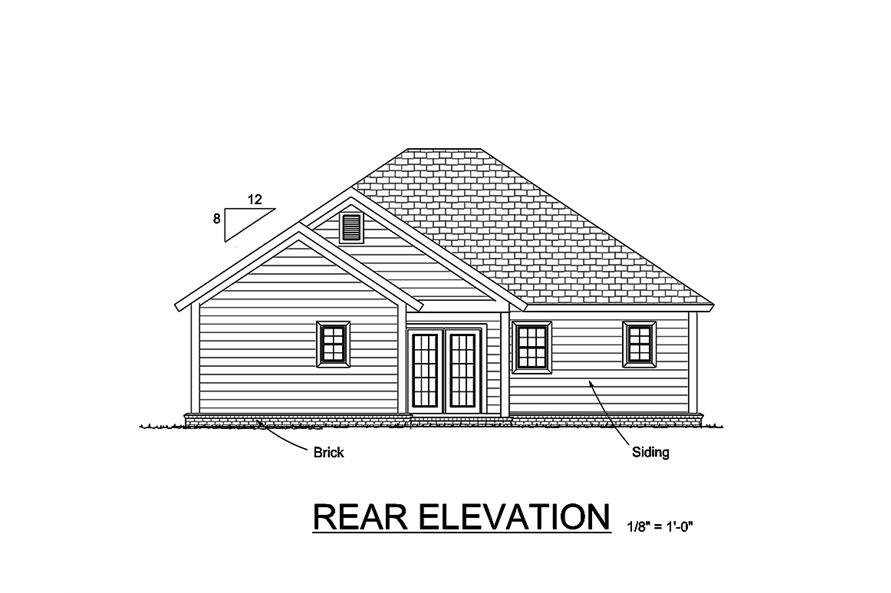178-1359: Home Plan Rear Elevation