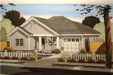 3-Bedroom, 1187 Sq Ft Craftsman House Plan - 178-1359 - Front Exterior