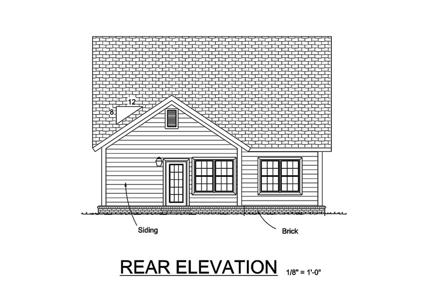 178-1361: Home Plan Rear Elevation
