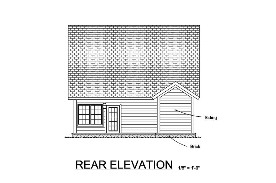 178-1362: Home Plan Rear Elevation