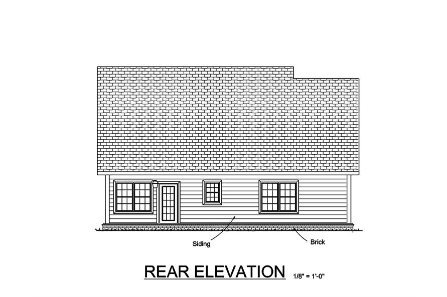 178-1363: Home Plan Rear Elevation