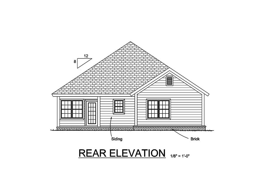 178-1364: Home Plan Rear Elevation