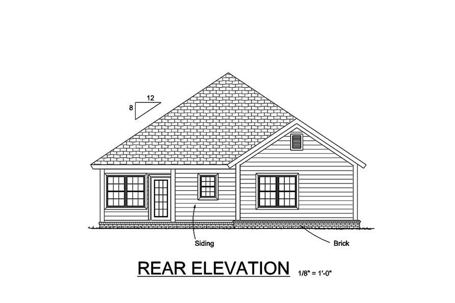 178-1364: Home Plan Rear Elevation