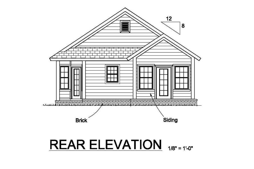 178-1368: Home Plan Rear Elevation
