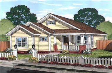 Front elevation of Cottage home (ThePlanCollection: House Plan #178-1368)