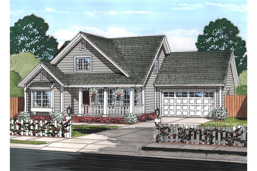 3-Bedroom, 1597 Sq Ft Cottage House Plan - 178-1369 - Front Exterior