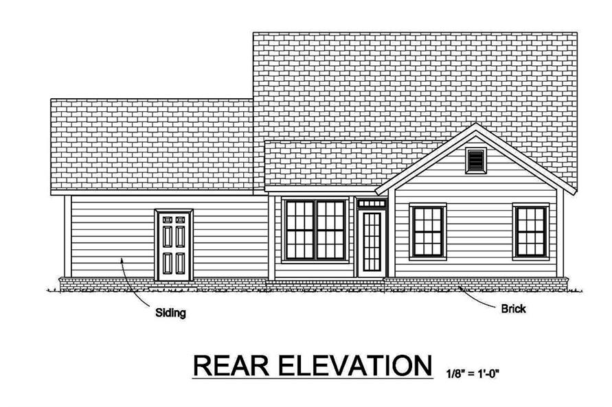 178-1371: Home Plan Rear Elevation