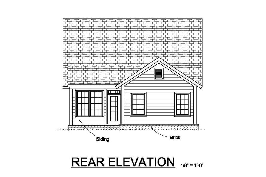 178-1372: Home Plan Rear Elevation