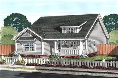 Front elevation of Cottage home (ThePlanCollection: House Plan #178-1372)