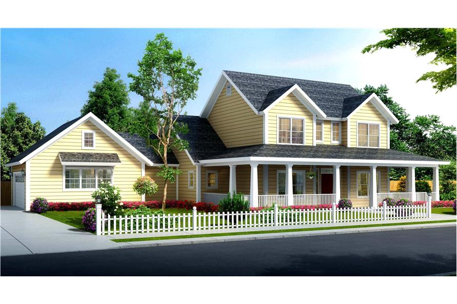 4-Bedroom, 1938 Sq Ft Traditional Home Plan - 178-1373 - Main Exterior