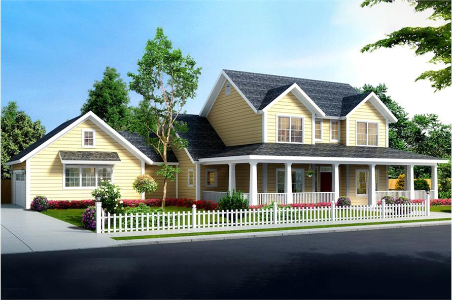 4-Bedroom, 1938 Sq Ft Farmhouse Home - Plan #178-1375 - Main Exterior