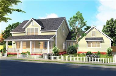 4-Bedroom, 2408 Sq Ft Country House Plan - 178-1377 - Front Exterior