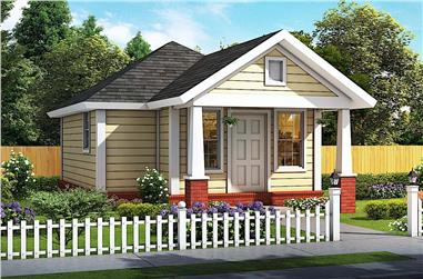 1-Bedroom, 412 Sq Ft Small House - Plan #178-1381 - Front Exterior