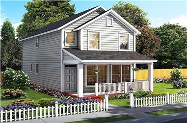 2-Bedroom, 1564 Sq Ft Traditional House - Plan #178-1382 - Front Exterior