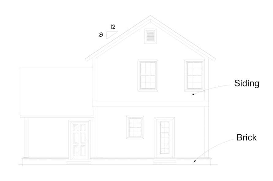 Home Plan Rear Elevation of this 2-Bedroom,1564 Sq Ft Plan -178-1383