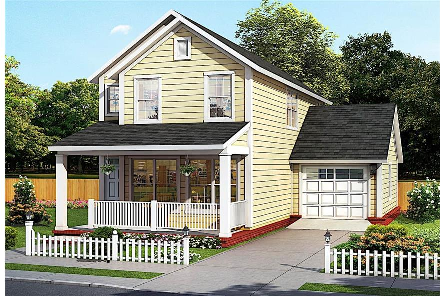 2-Bedroom, 1564 Sq Ft Traditional Home - Plan #178-1383 - Main Exterior