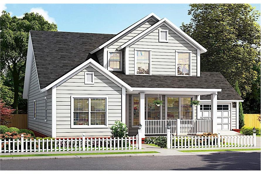 4-Bedroom, 2165 Sq Ft Colonial House - Plan #178-1384 - Front Exterior