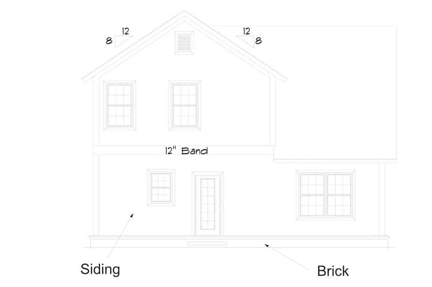 Home Plan Rear Elevation of this 4-Bedroom,2165 Sq Ft Plan -178-1385