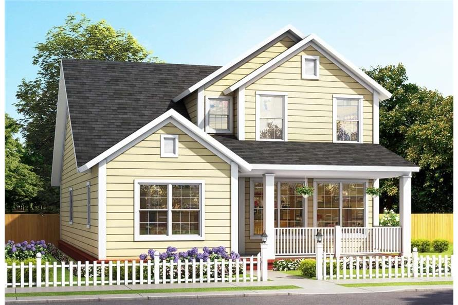 4-Bedroom, 2165 Sq Ft Farmhouse House - Plan #178-1385 - Front Exterior