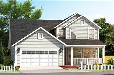 3-Bedroom, 2075 Sq Ft Transitional Home - Plan #178-1386 - Main Exterior