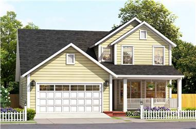 4-Bedroom, 2308 Sq Ft Country Home - Plan #178-1387 - Main Exterior